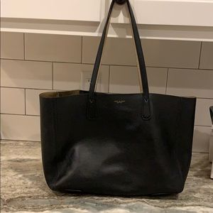 Tory Burch black and gold tote